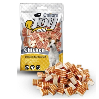 Calibra Joy Dog Mini Chicken & Cod Sandwich New 70 g